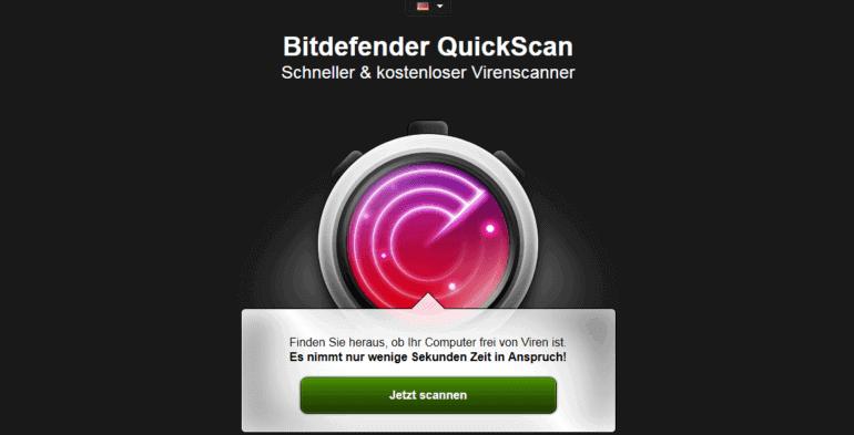 Online-Scanner von Bitdefender nutzen