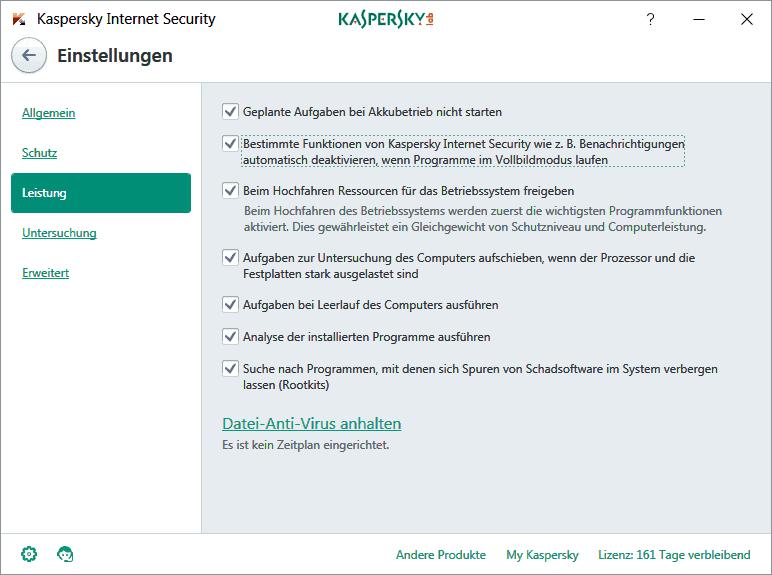 Tipps zum beschleunigen der Kaspersky Internet Security Suite
