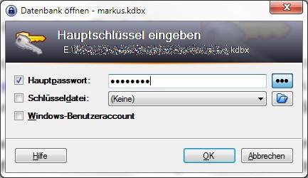 KeePass - man muss sich nur noch ein gutes Passwort merken