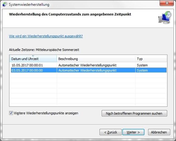 Windows: Trojaner verstecken sich in Wiederherstellungspunkt