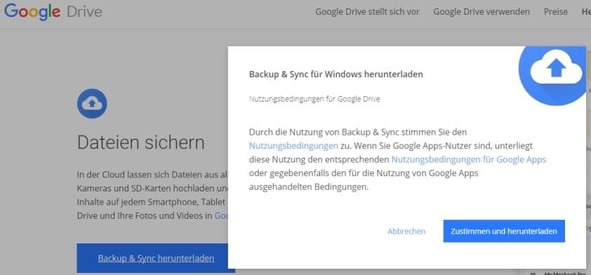 Google Backu & Sync downloaden
